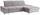 Wohnlandschaft in L-Form Credo ca.297x200cm - Chromfarben/Silberfarben, MODERN, Textil (297/200cm)