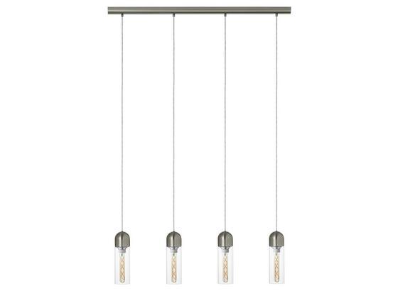 LED-Hängeleuchte Zacharo - Klar/Nickelfarben, MODERN, Glas/Metall (97,5/8/150cm)