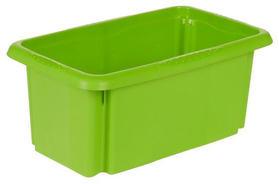 Aufbewahrungsbox Emil - Grün, KONVENTIONELL, Kunststoff (35/20,5/15cm)