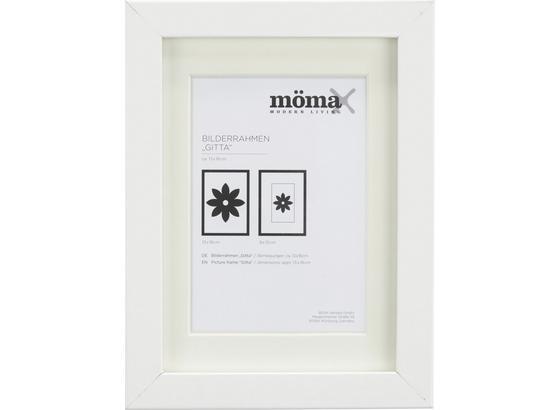 Rám Na Obrazy Gitta - bílá, Moderní, kompozitní dřevo/sklo (13/18/3,6cm) - Mömax modern living