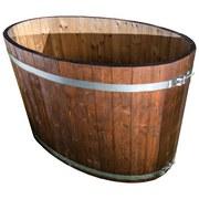 Badezuber Oval 150x85 cm - Naturfarben, MODERN, Holz (150/85/146,5cm)