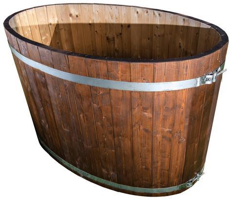 Holzbadewanne für den Garten