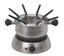 Fondue Kombination mit Keramik-Fonduetopf - Silberfarben/Schwarz, MODERN, Metall (24/9/24cm) - Silva Homeline