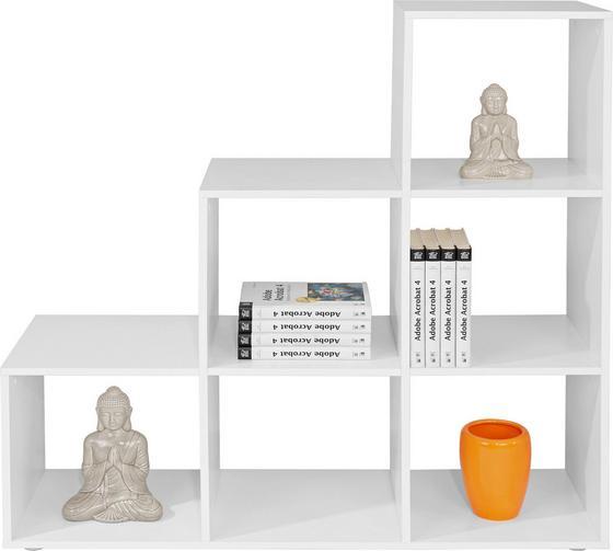Polc Pisa - fehér, modern, faanyagok (112/114/35cm)