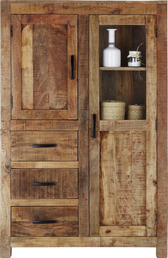 Komoda Highboard Industry - přírodní barvy, Basics, dřevo (95/147/47cm) - James Wood