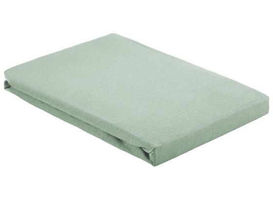 Prostěradlo Napínací Basic - světle zelená, textil (100/200cm) - Mömax modern living