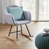 Houpací Křeslo Cameron - světle šedá, Moderní, dřevo/textil (58/80/69cm) - Mömax modern living