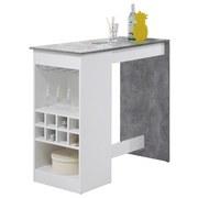 Bartisch Colada Mini L: 115 cm Weiß - Hellgrau/Weiß, Design, Holzwerkstoff/Metall (115/50/104cm) - Carryhome