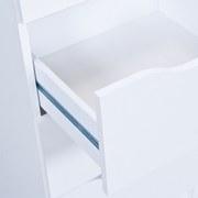 Nočný Stolík West 3 - biela, Moderný, kompozitné drevo (41/71/40cm)