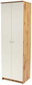 Schuhschrank Kv05 - Eichefarben/Weiß, MODERN, Holzwerkstoff (62,4/179,1/35,4cm)