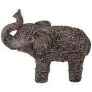Dekoelefant Gandari - Dunkelgrau, Basics, Stein (45,5/19,5/35,7cm) - Ombra