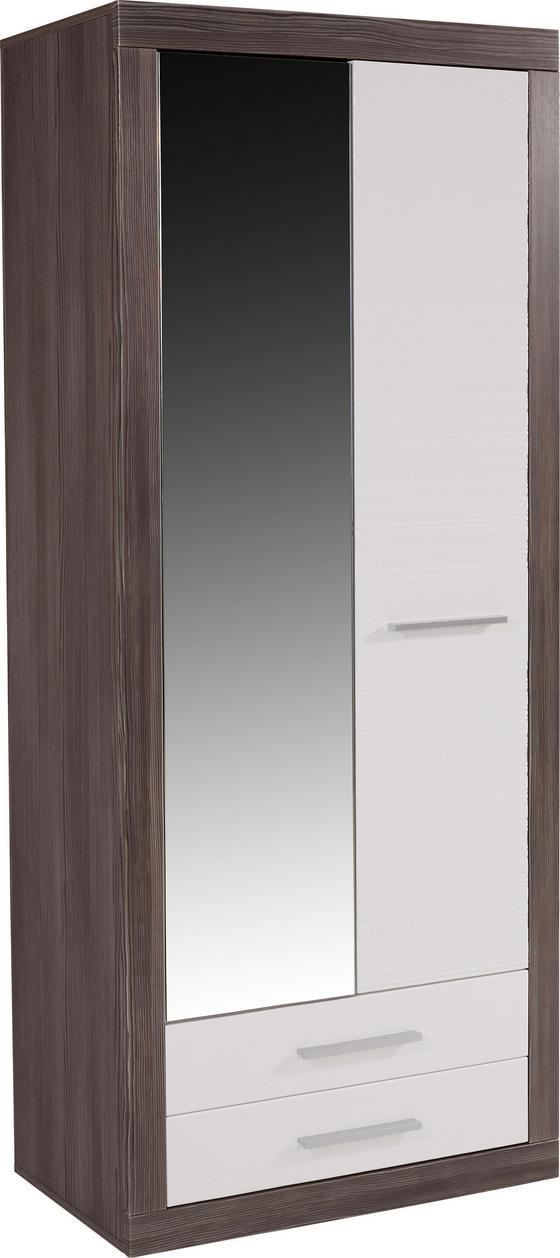 Garderobenschrank Focus - Weiß, MODERN, Holzwerkstoff (90/198/34,6cm)