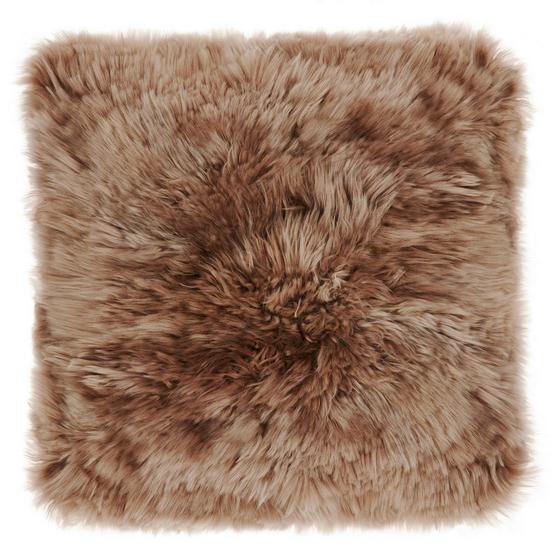 Kožešinový Polštář Sheep - bílá/šedohnědá, Romantický / Rustikální, textil (40/40cm) - MÖMAX modern living