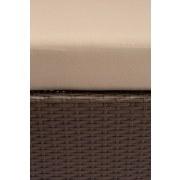 Gartenmuschel Benita Aus Polyrattan mit Dach, Kissen - Beige/Braun, MODERN, Kunststoff/Textil (200/74/184cm) - Luca Bessoni