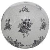 Dekokugel Anny - Schwarz/Weiß, Basics, Keramik (20/18cm)
