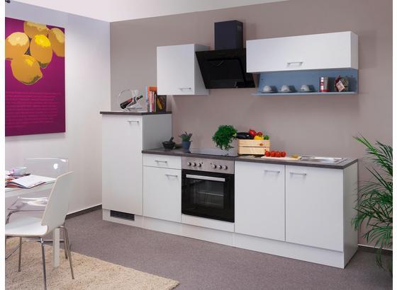 Küchenblock Lucca 270cm Weiß - Weiß, KONVENTIONELL, Holzwerkstoff (270/60cm)