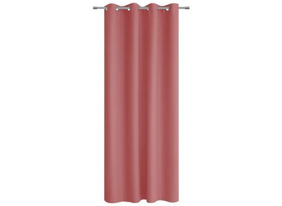 Ösenvorhang Alena - Rosa, KONVENTIONELL, Textil (140/245cm) - Ombra