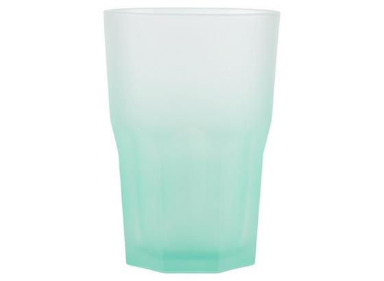 Sklenička Sandy - pink/mátově zelená, Moderní, sklo (0,40l) - Mömax modern living