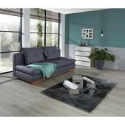 Sofa Paloma B: 200 cm - Dunkelgrau/Naturfarben, LIFESTYLE, Textil (200/77/92cm)