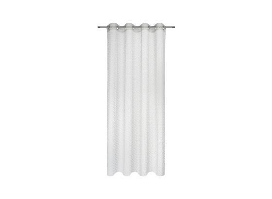 Záves S Krúžkami Astrid - biela, Moderný, textil (140/245cm) - Mömax modern living