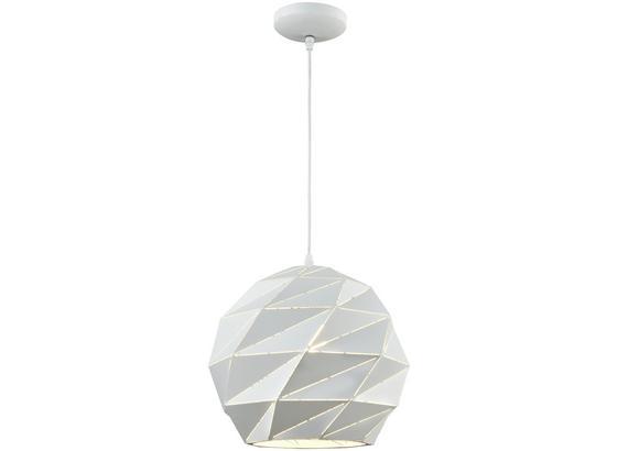 Závesná Lampa Jasmina - biela, Štýlový, kov (32/120cm) - Modern Living