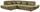 Wohnlandschaft in L-Form Park 233x311 cm - Schwarz/Olivgrün, MODERN, Textil (233/311cm) - Luca Bessoni