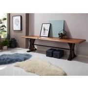 Sitzbank Banur B: ca. 178 cm - Sheeshamfarben/Schwarz, Design, Holz (178/45/49cm) - Livetastic