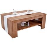 Couchtisch Holz mit Ablageflächen Madras, Dekor - Eichefarben/Weiß, KONVENTIONELL, Holzwerkstoff (110/40/70cm)