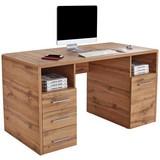 Schreibtisch mit Stauraum B: 150cm H: 75,5cm Eiche Dekor - Eichefarben, MODERN, Holzwerkstoff (150/75,5/60cm)