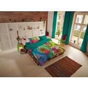 Wendebettwäsche Iride - Multicolor/Grün, MODERN, Textil