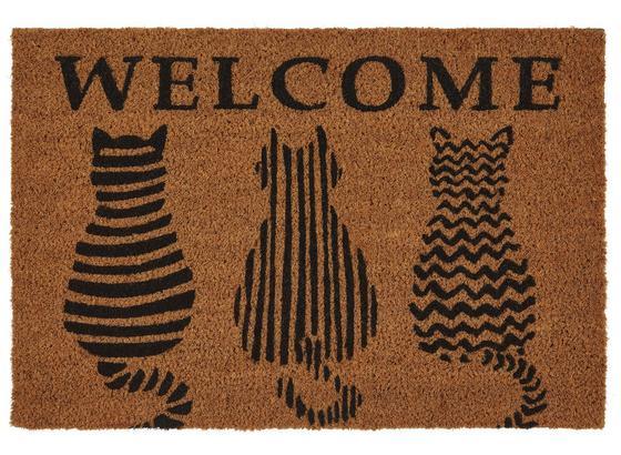 Rohožka Welcome Cats - hnedá, Basics, textil (40/60cm) - Mömax modern living