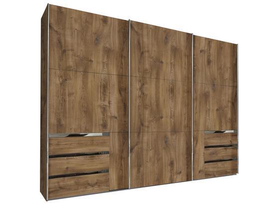 Schwebetürenschrank mit Schubladen 300cm Level 36a - Eichefarben, MODERN, Holzwerkstoff (300/216/65cm)