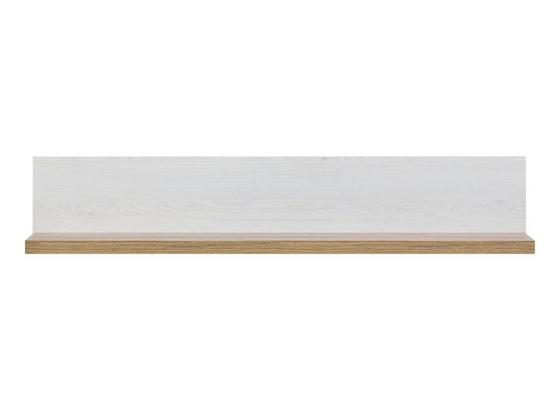 Nástenná Polica Noto - biela, Romantický / Vidiecky, drevo (102/21/19,5cm)