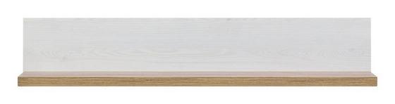 Police Nástěnná Noto - bílá, Romantický / Rustikální, dřevo (102/21/19,5cm)