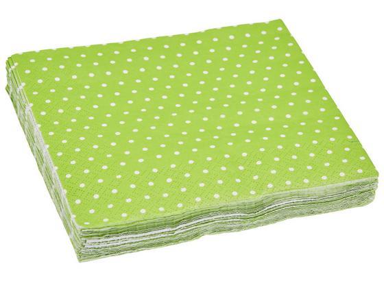 Ubrousek Mini Dots - bílá/zelená, papír (33/33cm)