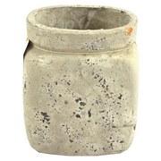 Pflanztopf H: 18,5cm - Hellbraun, MODERN, Keramik (16/18,5/13,5cm)