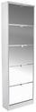 Schuhschrank Sg15 - 2 - Weiß, MODERN, Holzwerkstoff (58/170/18cm)