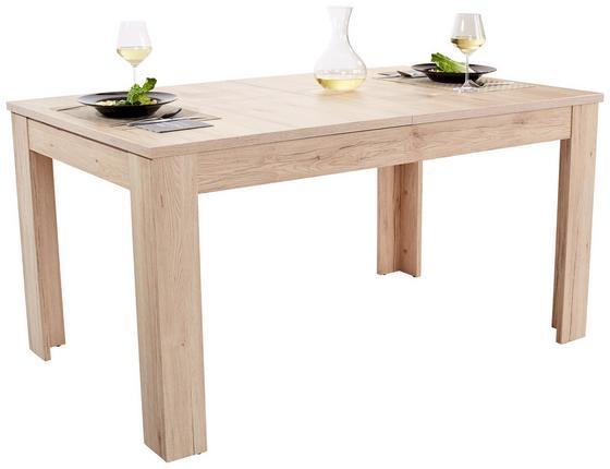 Ausziehbarer Esstisch Dinner 160cm San Remo Hell - Eichefarben, KONVENTIONELL, Holzwerkstoff (160/76/90cm)
