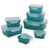 Frischhaltedose Gourmetmaxx Klick-It 28 Tlg - Türkis/Smaragdgrün, Basics, Kunststoff