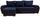 Wohnlandschaft in L-Form Milano 270x160 cm - Chromfarben/Blau, MODERN, Leder/Textil (270/90/160cm)