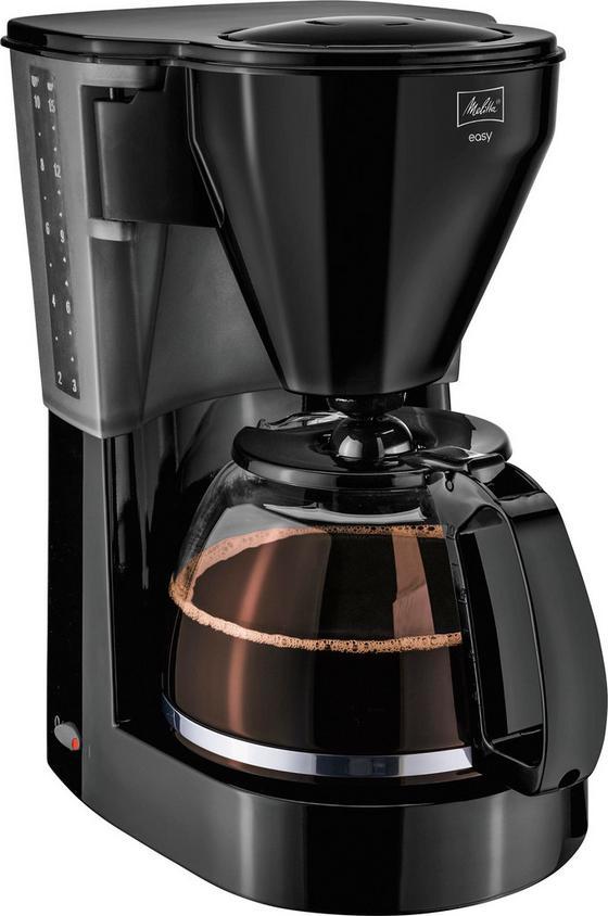 Melitta Filterkaffeemaschine Easy, Schwarz - Schwarz, KONVENTIONELL, Glas/Kunststoff (18,9/26/31,5cm) - Melitta