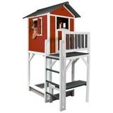 Spielhaus Sunny Lodge Xxxl Rot/weiss - Rot/Weiß, MODERN, Holz (114/249/168cm)