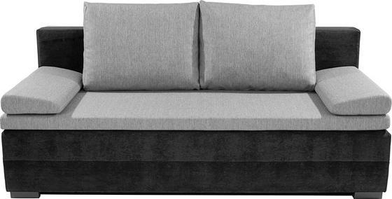 Rozkládací Pohovka Lilly 2 - šedá/černá, Konvenční, textilie (200/95/110cm)