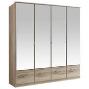 Drehtürenschrank mit Spiegel 180cm Imago, Sägerau Dekor - Eichefarben, KONVENTIONELL, Glas/Holzwerkstoff (180/199/58cm) - MID.YOU