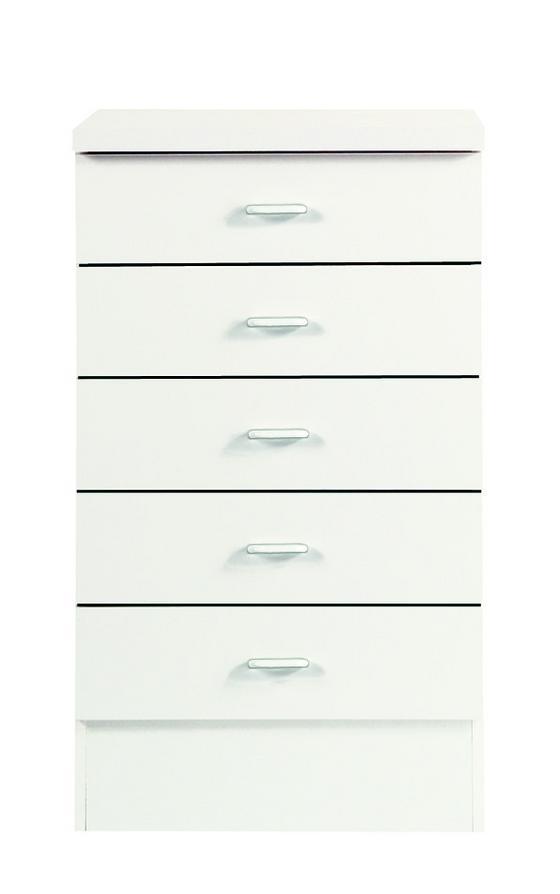 Küchenunterschrank Speed  Us 5-50-50 W - Weiß, MODERN, Holzwerkstoff (50/85/47cm)