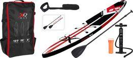 Stand Up Paddle Board Racing, 381x66x15cm - Rot/Schwarz, Basics, Kunststoff (381/66/15cm)