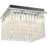 LED-Deckenleuchte Sofia - Chromfarben/Klar, MODERN, Glas/Kunststoff (30/30/22,5cm)