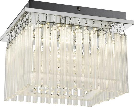 LED-Deckenleuchte Sofia - Chromfarben, MODERN, Glas/Kunststoff (30/30/22,5cm)