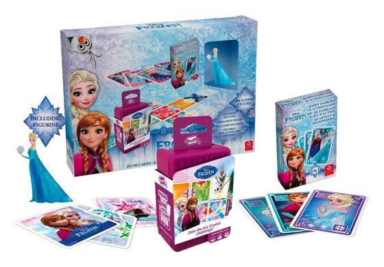 Kartenspielset Disney Die Eiskönigin - Blau, MODERN, Karton/Kunststoff (32/23/6cm)