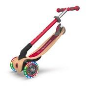 Scooter Globber Primo B: 56 cm Rot - Birkefarben/Rot, Basics, Holz/Kunststoff (56cm)